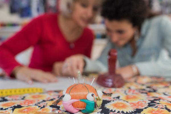 Ladies using studio for project